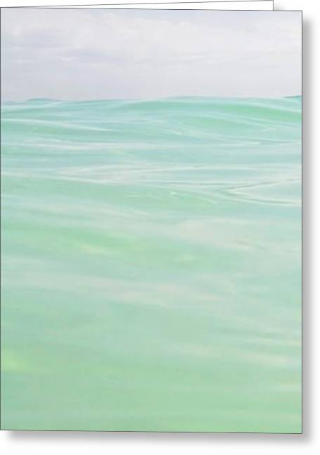 Blue Green Wave Greeting Cards - Slice of Heaven Greeting Card by Glennis Siverson