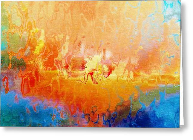 Purchase Greeting Cards - Slice Of Heaven Horizontal - Abstract Art Greeting Card by Jaison Cianelli