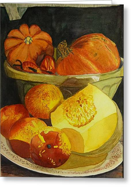 Slice Of Melon Greeting Card by Irina Stroup