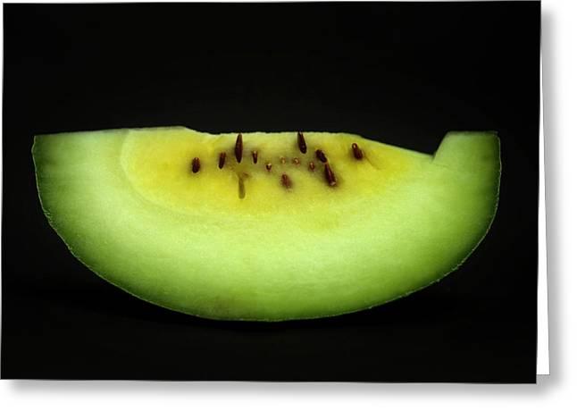 Fruits And Vegetables Greeting Cards - Slice of Pumpkin. Greeting Card by Bernard Jaubert