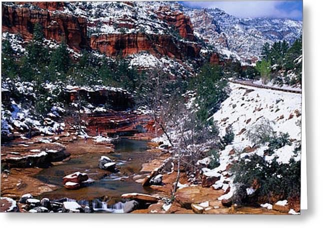 Slide Rock Creek, Sedona, Arizona Greeting Card by Panoramic Images