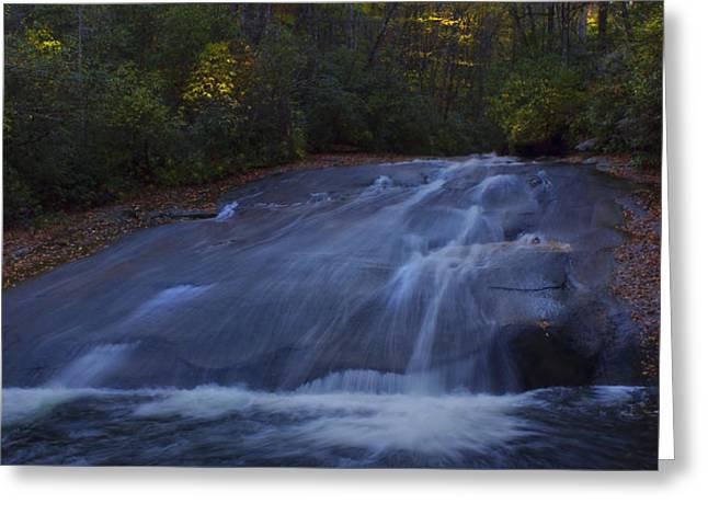 Sliding Rock Falls Greeting Card by Ellen Heaverlo