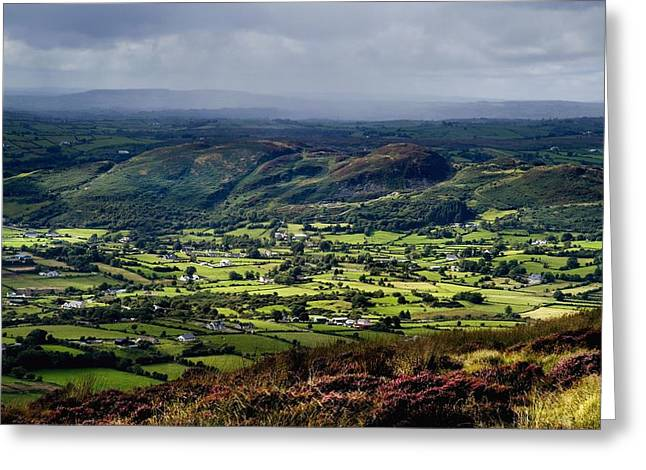 Long Shot Greeting Cards - Slieve Gullion, Co. Armagh, Ireland Greeting Card by The Irish Image Collection