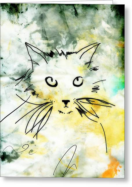 Ann Powell Greeting Cards - Slim Greeting Card by Ann Powell