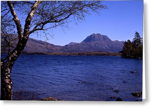 Slioch Greeting Cards - Slioch Loch Maree Wester Ross Scotland Greeting Card by Michael Walters