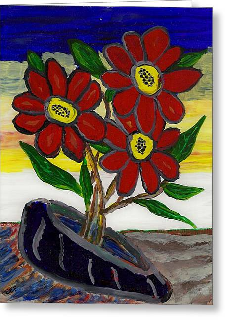 Acrylic Glass Art Greeting Cards - Slipper Flower Greeting Card by Enrico Pischiera