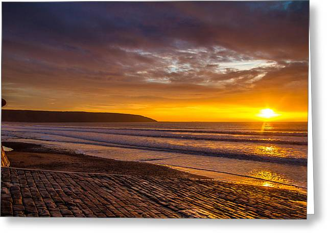 Fishing_boat Greeting Cards - Slipway Sunrise Greeting Card by Cliff Miller