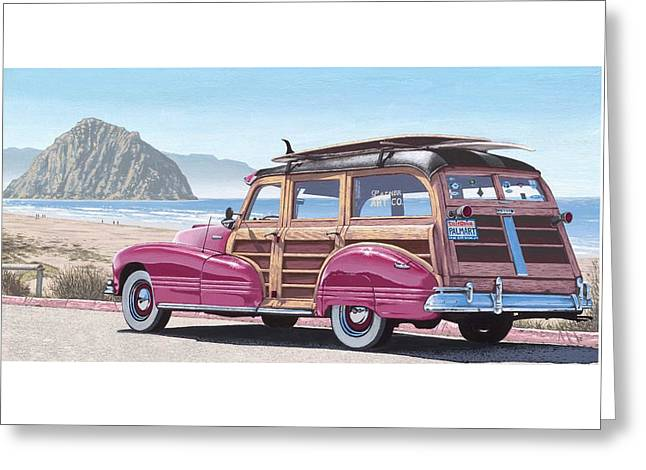 Coast Hwy Ca Greeting Cards - SLO Wood Greeting Card by Andrew Palmer