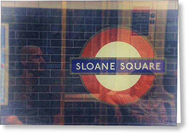 Sloane Square Portrait Greeting Card by Rasma Bertz