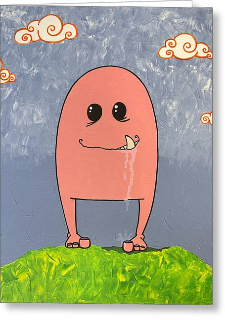 Slobber Greeting Cards - Slobber Greeting Card by Dawn Houston