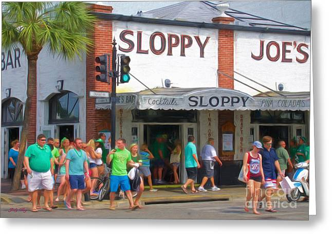 Sloppy Joe's Greeting Card by Judy Kay