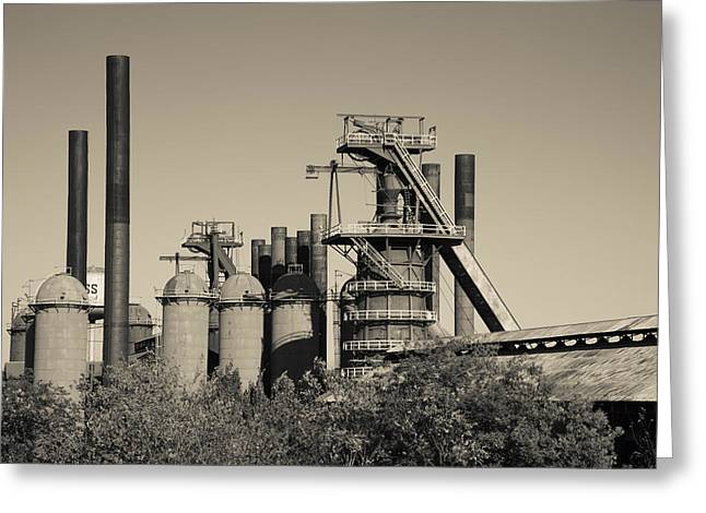 Sloss Furnaces National Historic Greeting Card by Panoramic Images