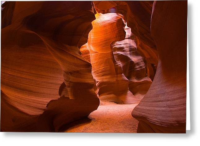 Ts Greeting Cards - Slot Canyon Greeting Card by Harry Spitz