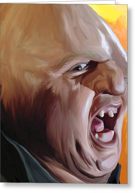 Sloth From Goonies Greeting Card by Brett Hardin