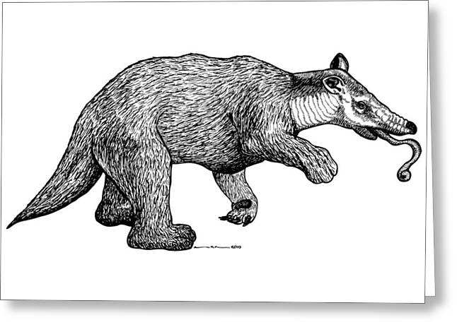 Wild Life Drawings Greeting Cards - Slothbear Greeting Card by Karl Addison
