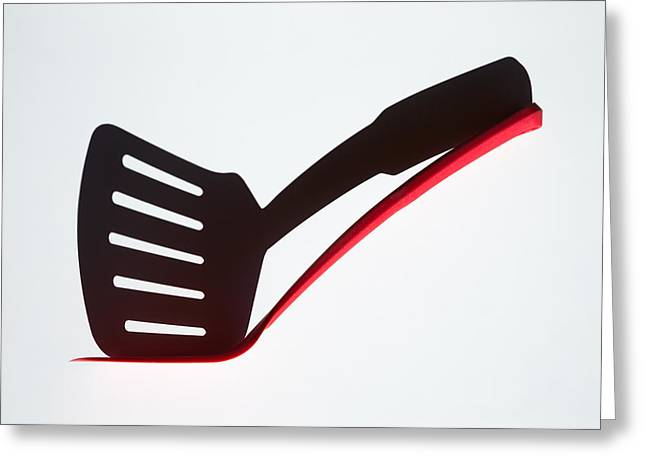 Kitchen Utensils Greeting Cards - Slotted Shadow Greeting Card by Jacqueline Hammer