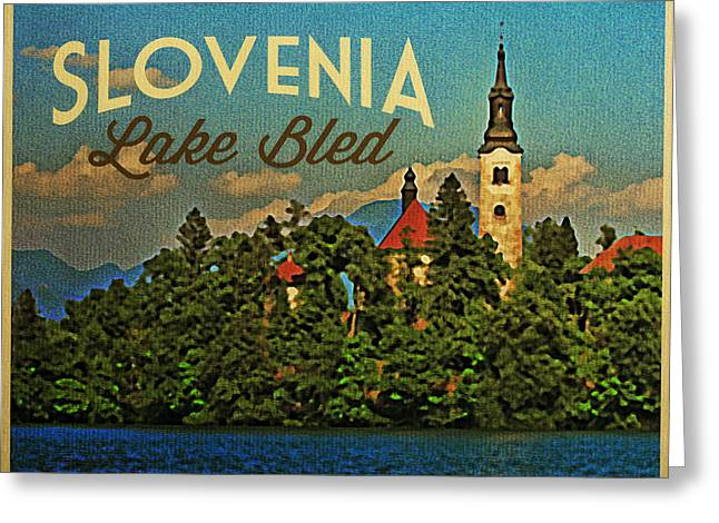 Bled Greeting Cards - Slovenia Lake Bled Greeting Card by Flo Karp