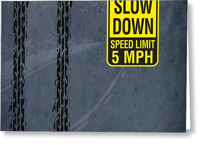 Slow Down, Man Greeting Card by Pablo Franchi