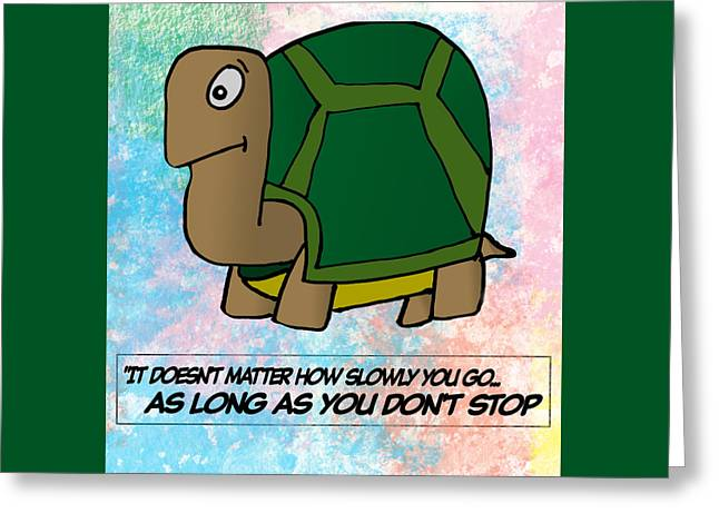 Persistence Greeting Cards - Slow Turtle  Greeting Card by Anthony Caruso