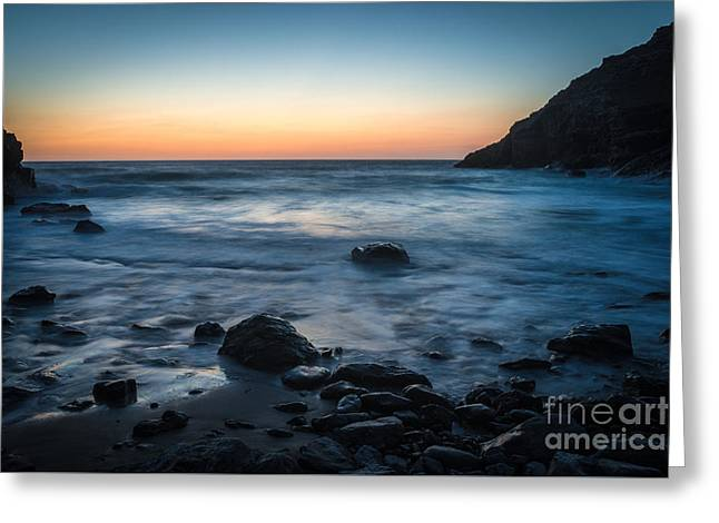 Slow Water At Sunset Greeting Card by Amanda Elwell