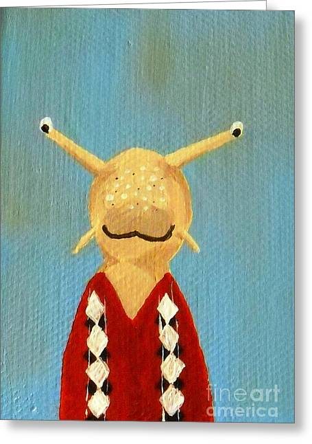 Loveland Artist Greeting Cards - Slugs School Picture Greeting Card by Kerri Ertman