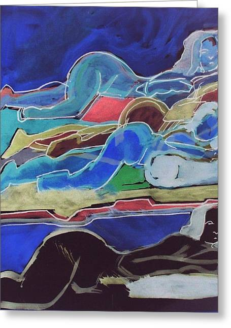 Inversion Paintings Greeting Cards - Slumber Greeting Card by James  Christiansen