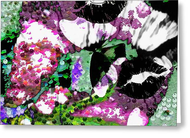 Print On Canvas Greeting Cards - Smacked Greeting Card by Catherine Lott