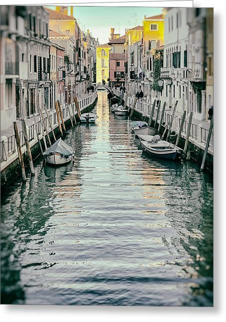 Dorsoduro Greeting Cards - Small Canal In Dorsoduro Venice Greeting Card by Paul Bucknall