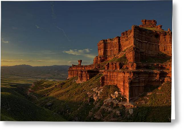 Filter Greeting Cards - Small Canyon Greeting Card by David Martin Castin