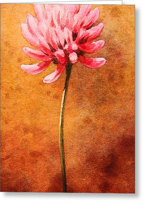 Refined Greeting Cards - Small Clover Greeting Card by John Francis