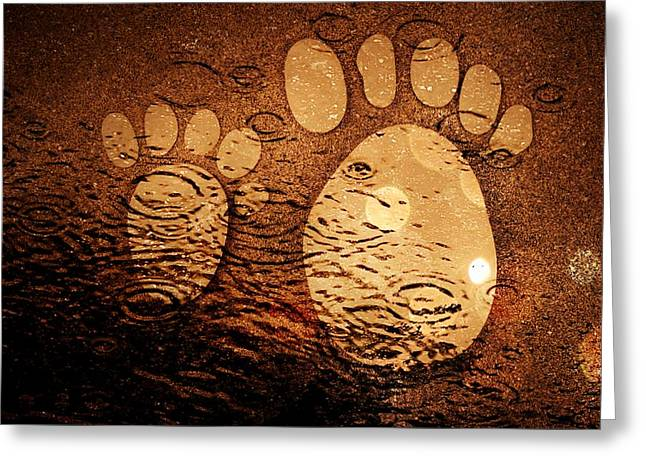 Small Feet And Big Feet 3 Greeting Card by Jean Francois Gil