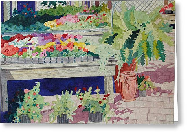 Small Garden Scene Greeting Card by Terry Holliday