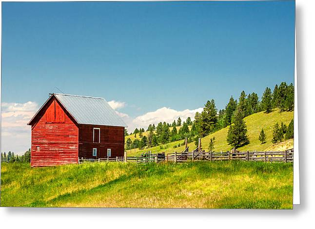 Small Red Shed Greeting Card by Todd Klassy