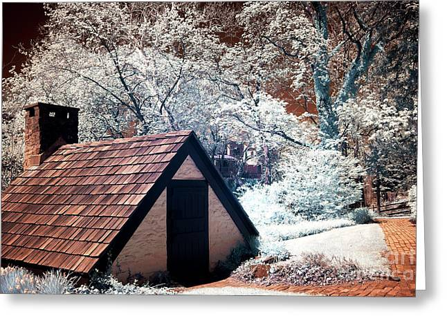 Yard Sale Greeting Cards - Small Roof Infrared Greeting Card by John Rizzuto