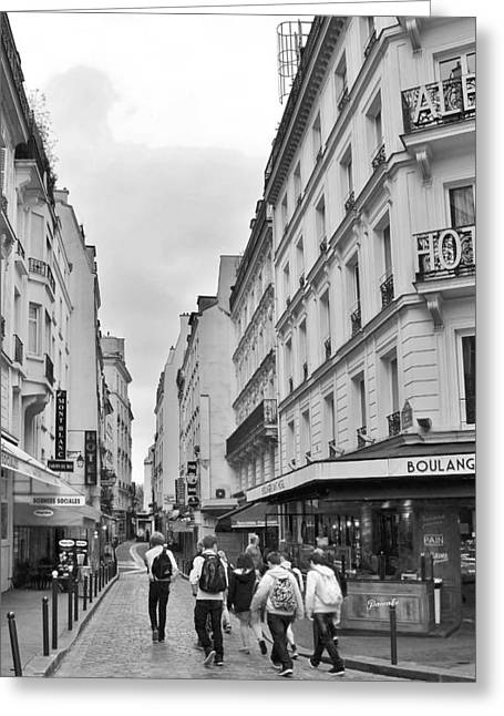 Kim Photographs Greeting Cards - Small Street in Paris Greeting Card by Kim Bemis