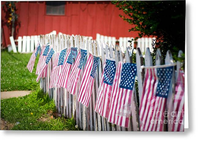 Independance Greeting Cards - Small Town Independence Greeting Card by William Fehr