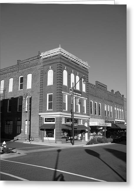 Julian Bralley Greeting Cards - Small Town Greeting Card by Julian Bralley