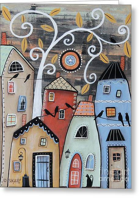 Small Town Greeting Card by Karla Gerard