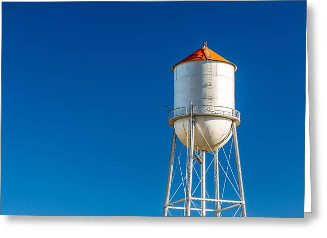 Small Town Water Tower Greeting Card by Todd Klassy