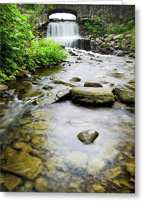 Nature Scene Greeting Cards - Small Waterfall In Country Creek Greeting Card by Christina Rollo