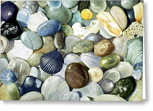 Close Up Paintings Greeting Cards - Small World Greeting Card by Bob Nolin