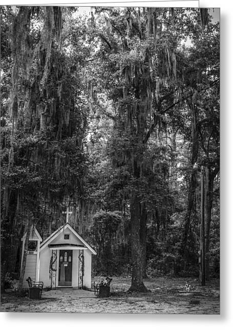 Savannah Infrared Photography Greeting Cards - Smallest Church In America Darien Georgia Greeting Card by Bradley R Youngberg
