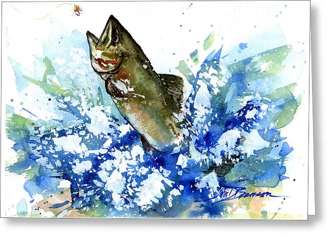 Smallmouth Bass Greeting Card by John D Benson