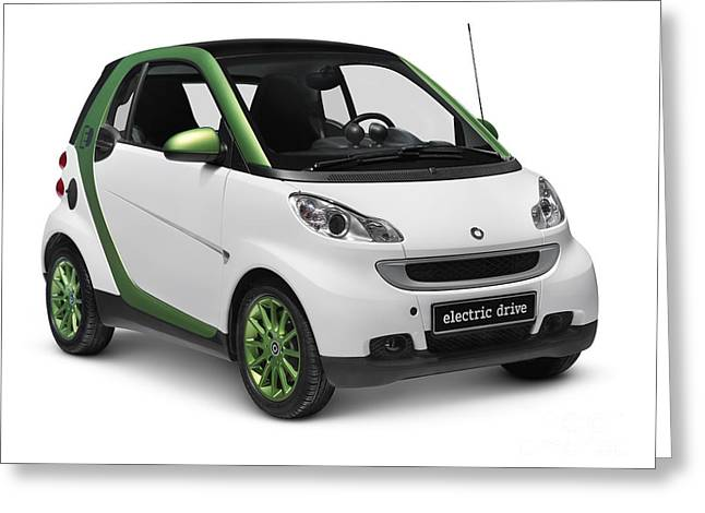 Electric Vehicle Greeting Cards - Smart Fortwo Electric Drive Greeting Card by Oleksiy Maksymenko