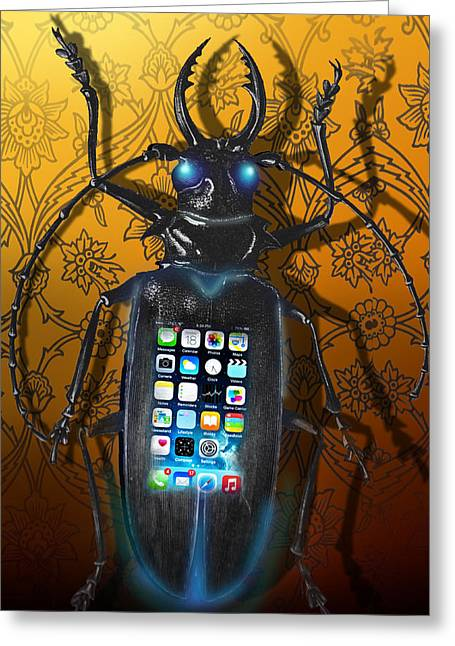 Smart Phone Greeting Card by Larry Butterworth