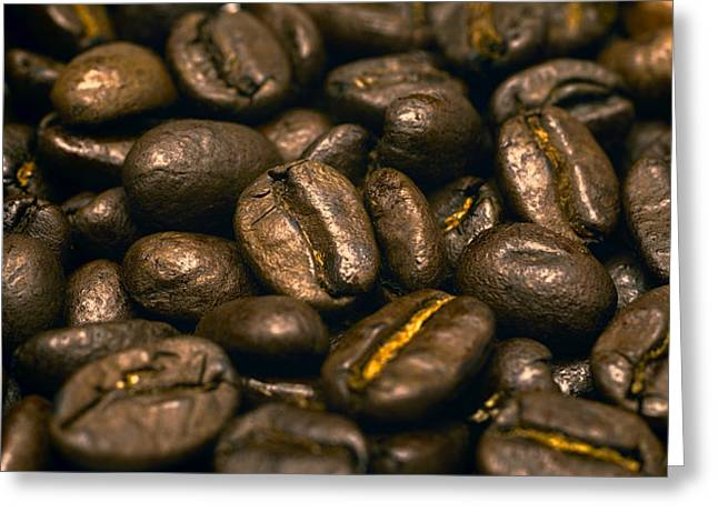 The Bean Greeting Cards - Smell The Coffee Aroma Greeting Card by Daniel Hagerman