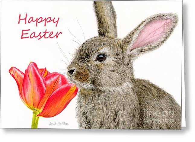 Smells Like Spring- Happy Easter Greeting Card by Sarah Batalka