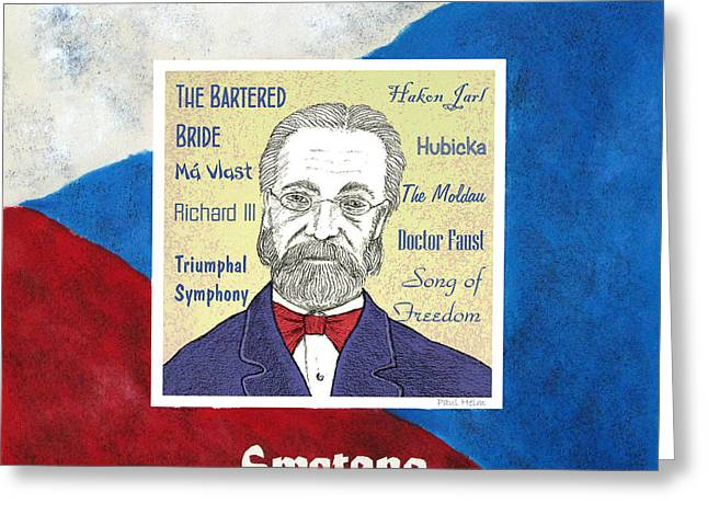 Czech Flag Greeting Cards - Smetana Greeting Card by Paul Helm