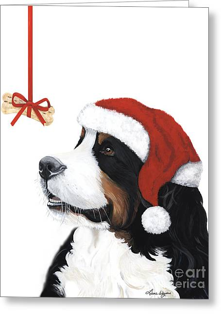Sleeping Dogs Greeting Cards - Smile its Christmas Greeting Card by Liane Weyers