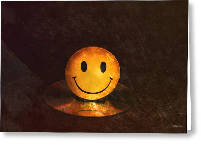 Refraction Greeting Cards - Smile Greeting Card by Peter Chilelli